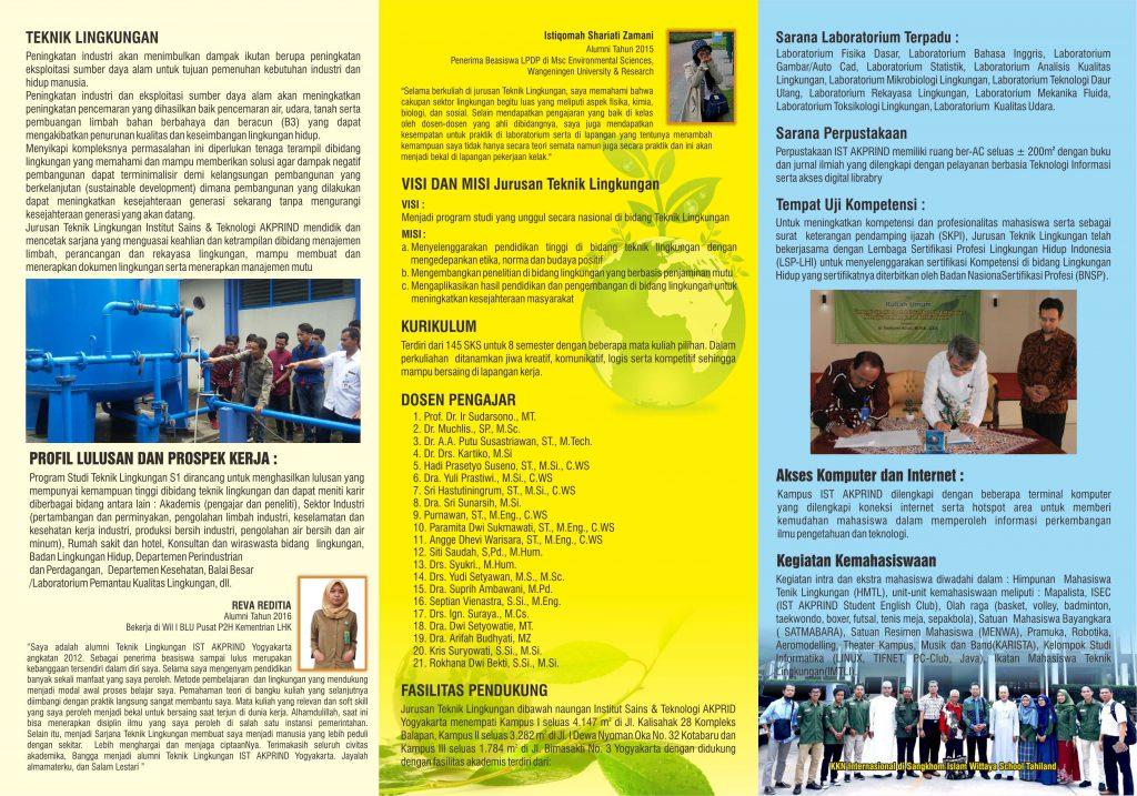 Brosur IST Akprind Program Studi Teknik Lingkungan EDIT 1