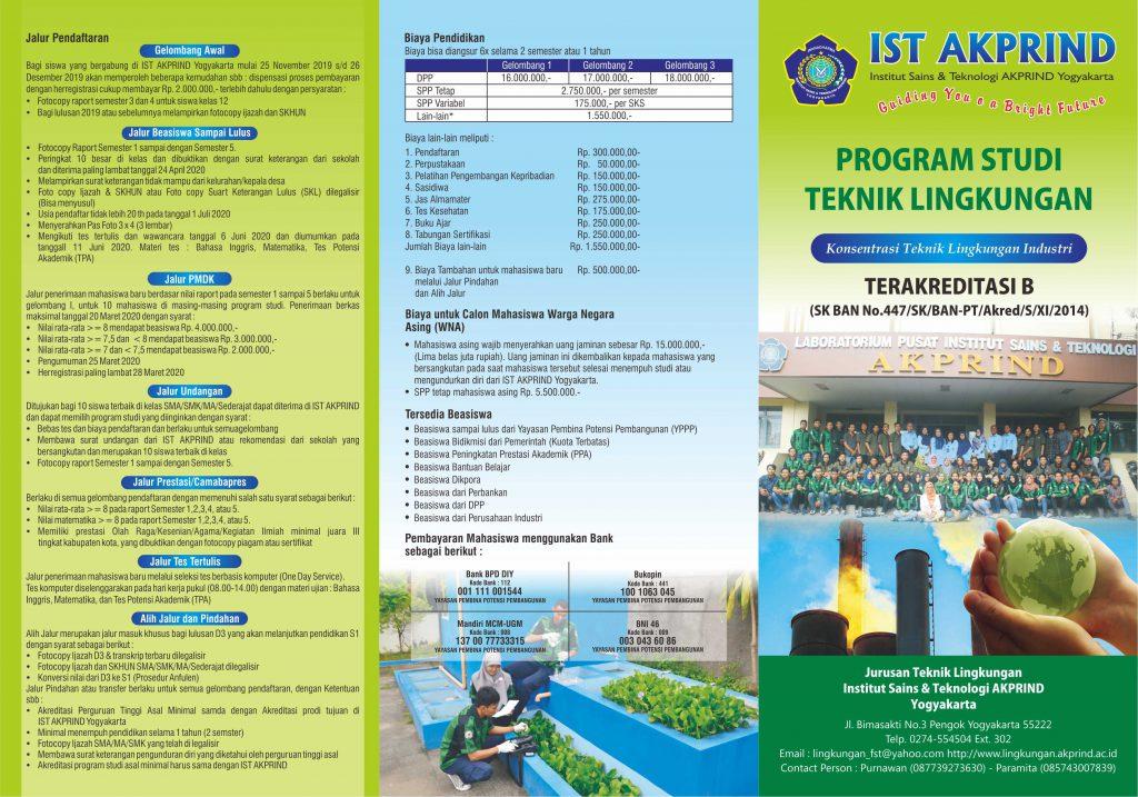 Brosur IST Akprind Program Studi Teknik Lingkungan EDIT