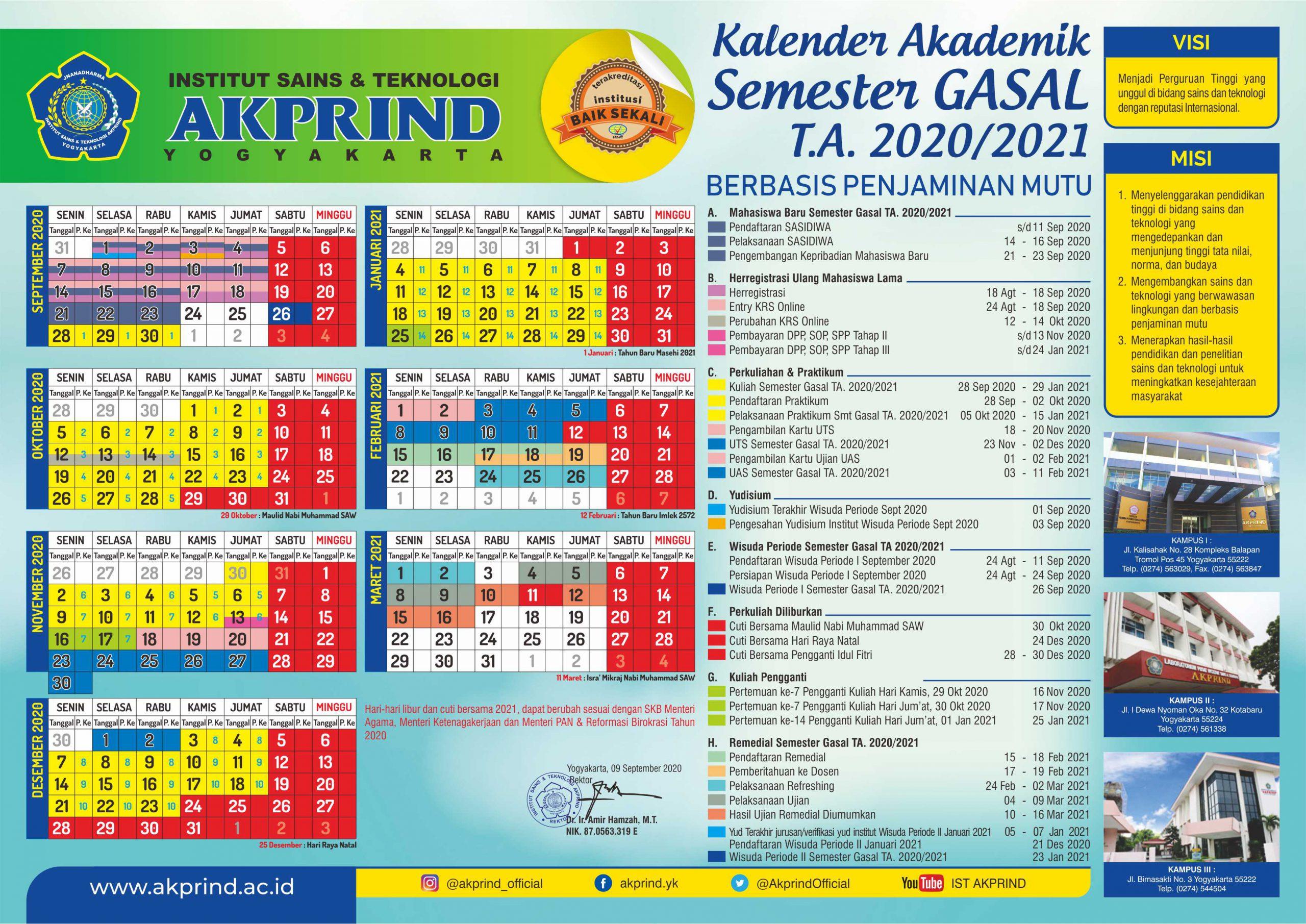 Kalender Semester Gasal 2020/2021